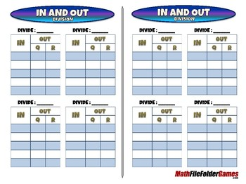 In and Out Division - 4th Grade Math Game [CCSS 4.NBT.B.6]