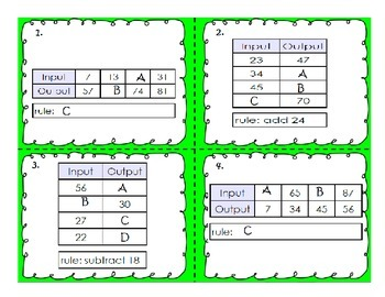 In and Out Table Task Cards
