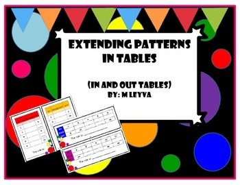 In and out tables: Extending patterns