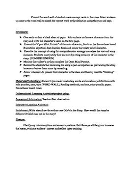 In depth ELA Lesson Plan