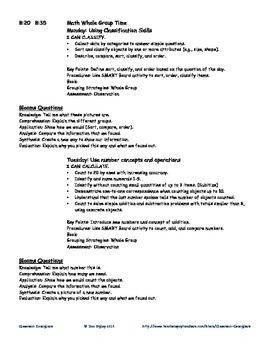 In depth Early Childhood lesson plan for the entire week!