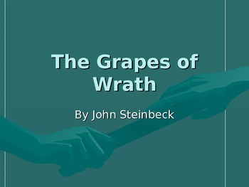 In depth Grapes of Wrath slideshow starting at chapter 13