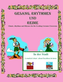 German Musical Chant About Town Vocabulary and Prepositions - In der Stadt