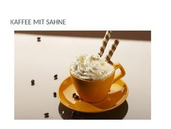 In einem Cafe / Essen und Trinken / At a cafe / Food and drink / German food