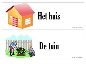 In en bij het huis - vocabulary for the house in Dutch