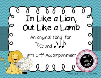 In like a lion, out like a lamb - song for teaching re and syncopa with Orff