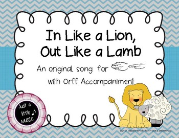 In like a lion, out like a lamb - song for teaching sol & mi with Orff Accomp