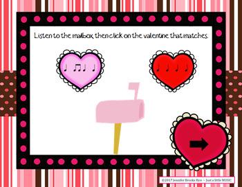 In love with Rhythms - Valentine rhythmic notation practice activity {ta titi}