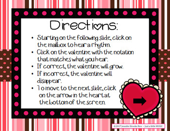 In love with Rhythms - Valentine rhythmic notation practice activity {rest}