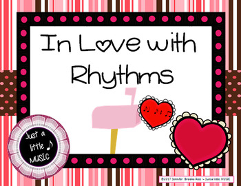 In love with Rhythms - Valentine rhythmic notation practice activity {syncopa}