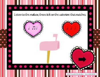 In love with Rhythms - Valentine rhythmic notation practice activity {ta-ah}