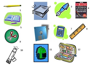 In meiner Tasche / In meiner Schultasche / School equipment / Haben