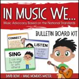 In music class we... Music Advocacy Bulletin Board based o