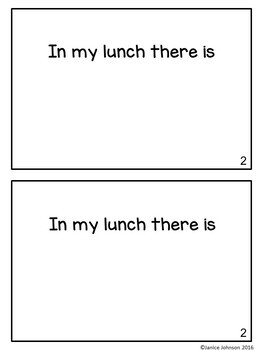 In my Lunchbox Emergent Reader & Build-A-Book {Young Readers, ESL, EFL}