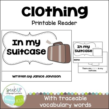 In my Suitcase Clothing Reader & Cut & Paste Activity {Young Readers, ESL, EFL}