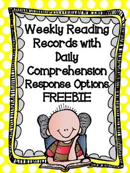 Weekly Reading Records with Comprehension Activities Freebie