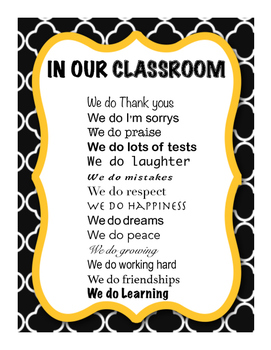 In our classroom. We do...