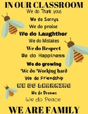 In our classroom bee theme