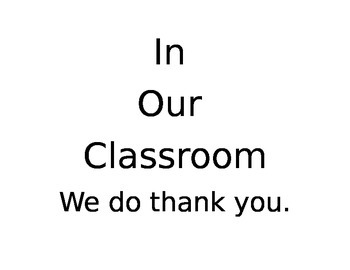 In our classroom...posters