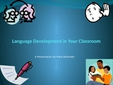 In-service on Language development in the classroom