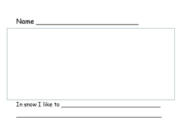 In snow I like to classbook page