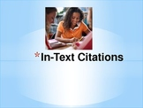 """In-text citations-  Teaching students to """"follow the trail"""""""