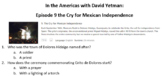 In the Americas with David Yetman:  Episode 9 the Cry for
