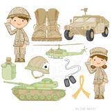 In the Army Cute Digital Clipart, Military Clip Art