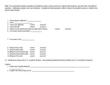 In the Beginning Unit Plan assessment
