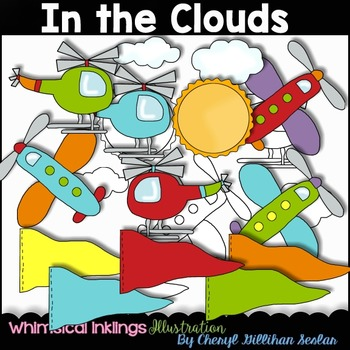 In the Clouds Clipart Collection