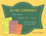 In the Community - Speaking Situation Cards
