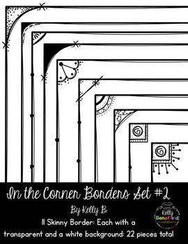 In the Corner Borders Set #2