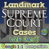 Supreme Court Cases Webquest: Students investigate 6 landmark cases!