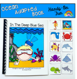 """Ocean Adapted Book And Vocabulary Activities--""""In the Deep Blue Sea"""""""