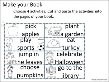 In the Fall Emergent Reader and Build-A-Book {Young Readers, ESL, EFL}