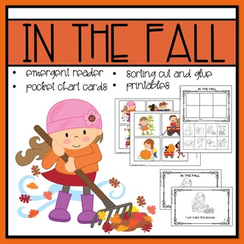 In the Fall Emergent Reader and Mini Literacy Set