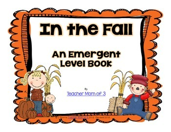 In the Fall Printable Sight Word Book Kindergarten FREEBIE