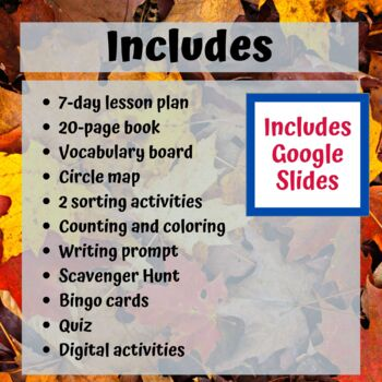 Fall Unit for Special Education Expanded/Updated and lesson plans added