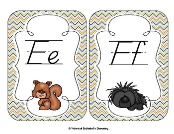 In the Forest Alphabet Cards: D'Nealian Set