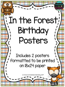 In the Forest Birthday Posters