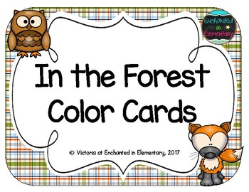 In the Forest Color Cards