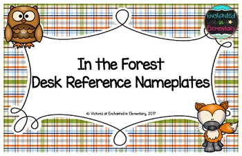 In the Forest Desk Reference Nameplates