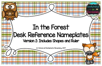 In the Forest Desk Reference Nameplates Version 2