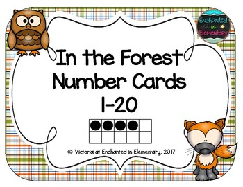 In the Forest Number Cards 1-20