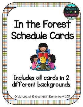 In the Forest Schedule Cards