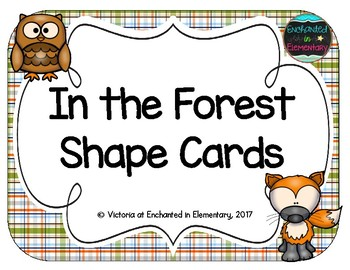 In the Forest Shape Cards