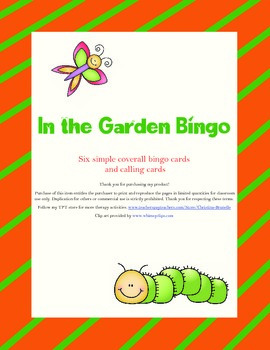 In the Garden Bingo