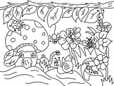 In the Garden - Colouring In