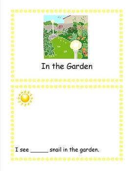 In the Garden Emergent Reader Sticker Story