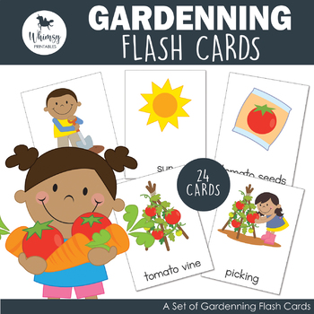 In the Garden Flash Cards